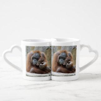Orang Utan 001 Lovers Mug Set