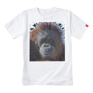 Orang Utan, Funky flowers (C) Zazzle HEART T-Shirt