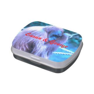 Orang Utan,purple blue Jelly Belly Tins