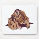orangatang del papá y del bebé tapete de ratón