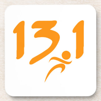 Orange 13.1 half-marathon beverage coasters