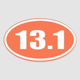 Orange 13.1 Sticker | Half Marathon