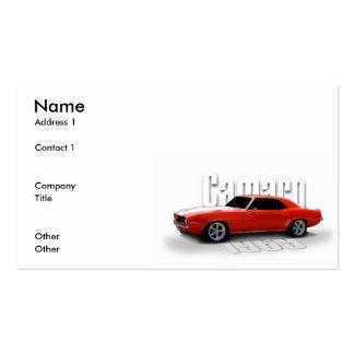 orange 1969 business card template