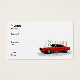 orange 1969 business card