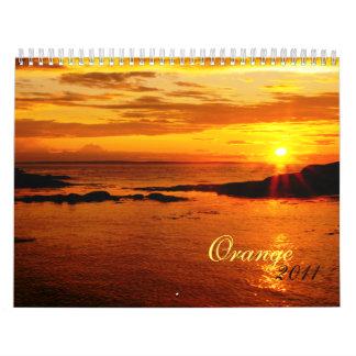 Orange 2011 calendar