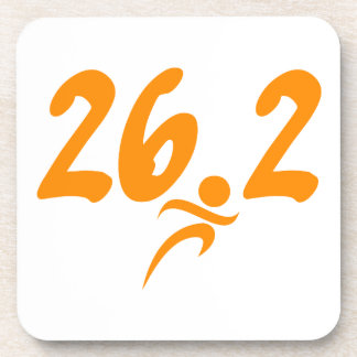 Orange 26.2 marathon coaster