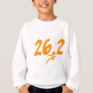 Orange 26.2 marathon sweatshirt