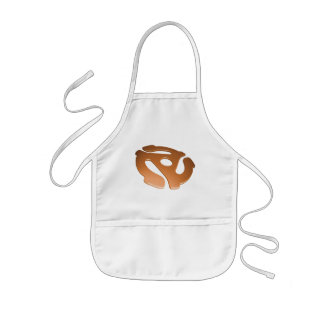 Orange 3D 45 RPM Adapter Kids' Apron