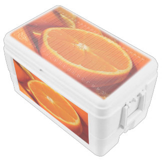 Orange 48 Quart Duo Deco Cooler