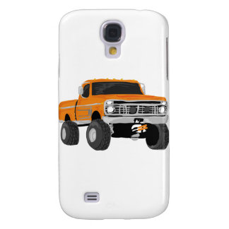 Orange 4x4 Mud Truck Galaxy S4 Cases