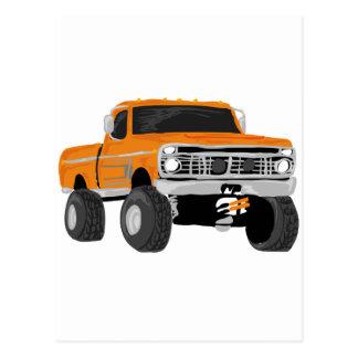 Orange 4x4 Mud Truck Post Cards