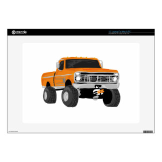 Orange 4x4 Mud Truck Laptop Skin