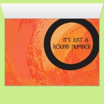 Orange 50 Decade Birthday Card