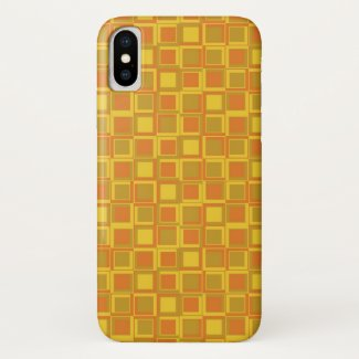 Orange 70's year styling squares