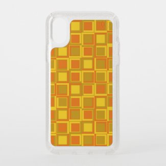 Orange 70s year styling squares speck iPhone x case