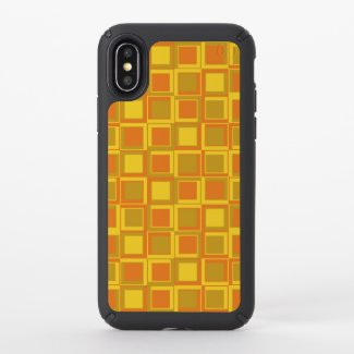 Orange 70's year styling squares speck iPhone x case