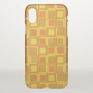 Orange 70's year styling squares iPhone x case