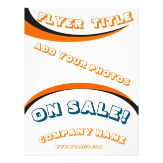 Orange 9 Elements Transparent Template Flyer