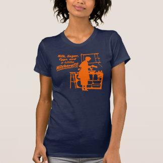 """Orange """"A LITTLE WITCHCRAFT"""" Womens T-Shirt"""