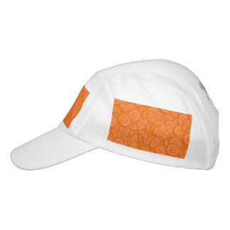 Orange Abstract 45s Headsweats Hat