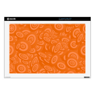 """Orange Abstract 45s Skins For 17"""" Laptops"""
