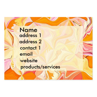 Orange abstract art profile card or invitation large business cards (Pack of 100)