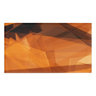 Orange Abstract Background For Design As Polygon P Name Tag