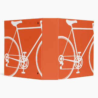 Orange Abstract bicycle design Binder