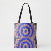 Orange abstract blue shoulder bag