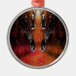 Orange Abstract Christmas Tree Ornaments