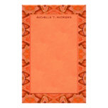 orange abstract customized stationery