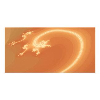 Orange Abstract Design. Photo Card