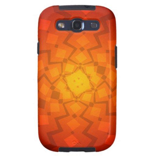 Orange abstract Design Samsung Galaxy SIII Cover