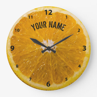 Orange Abstract Drawing Clock