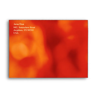 Orange abstract envelope