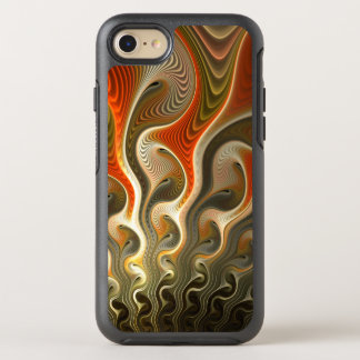Orange Abstract Flames Set Phasers To Stun OtterBox Symmetry iPhone 8/7 Case