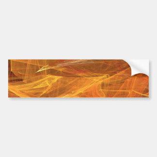 Orange Abstract Fractal Background Bumper Sticker