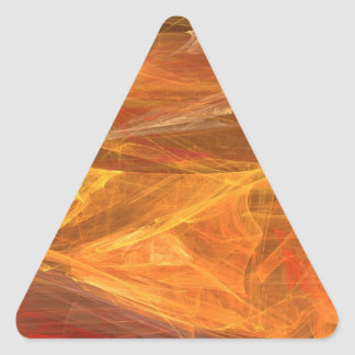 Orange Abstract Fractal Triangle Sticker