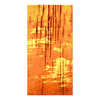 Orange Abstract Graphic with Dark Lines. Photo Card
