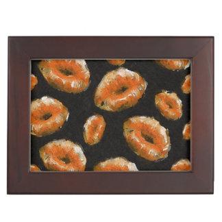 Orange Abstract Lips Keepsake Box