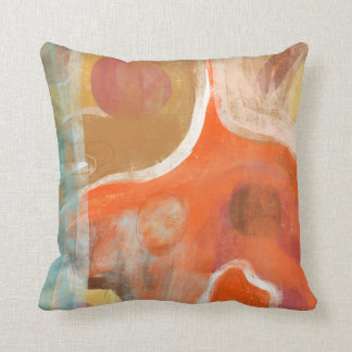Orange Abstract Modern Art Pillows