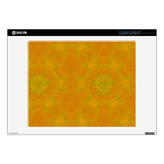 "Orange abstract pattern decals for 14"" laptops"