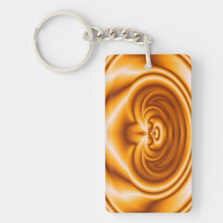 Orange abstract pattern keychain