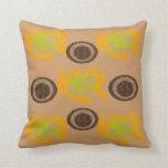 Orange abstract pattern pillow