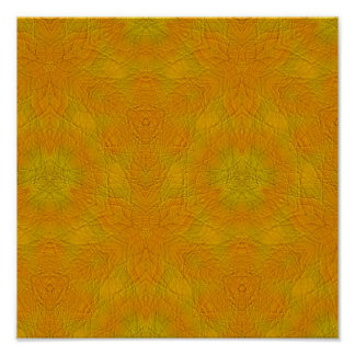 orange abstract pattern posters