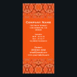 """orange abstract rack card<br><div class=""""desc"""">orange abstract pattern design colorful rack card. Add your own information to the abstract from design. The back is left blank so you  can add more detailed information.</div>"""