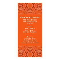 orange abstract rack card