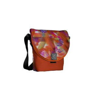 Orange Abstract Shoulder Bag #1 Messenger Bag