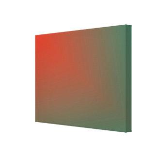 "Orange Abstract ""Star Beam"" on Green Canvas Print"
