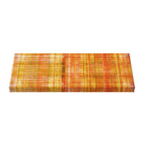Orange Abstract Striped Art Wrapped Canvas Print